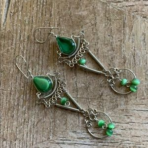 Jewelry - Earrings silver plated and stones 🎶